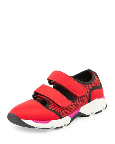 Double Grip-Strap Sneaker, Red