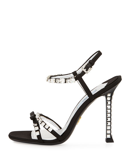 Crystal-embellished Satin Pumps - Black Prada YdTtXPM4od