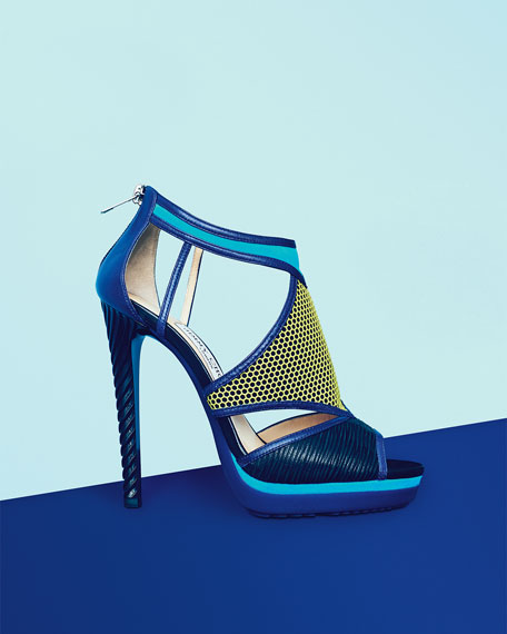 Lythe Mixed-Media Platform Sandal