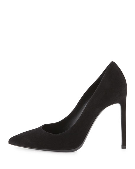 Suede and leather pumps Saint Laurent D1kqHoMe