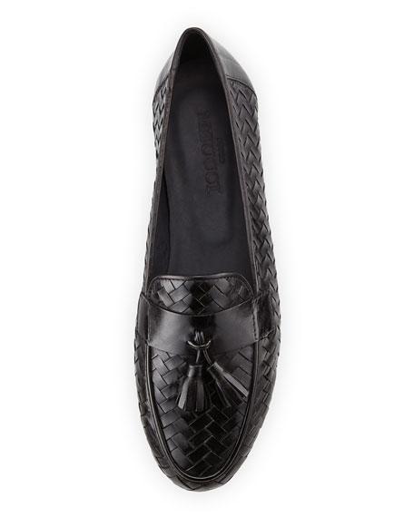 Nedra Woven Tassel Loafer, Black