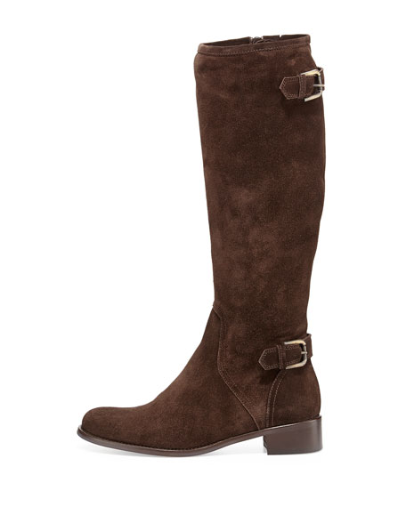 Blyss Suede Riding Boot, T Moro Brown