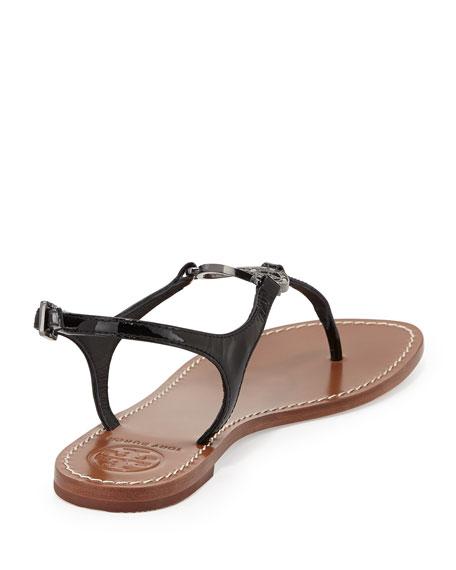 Violet Logo Thong Sandal, Black