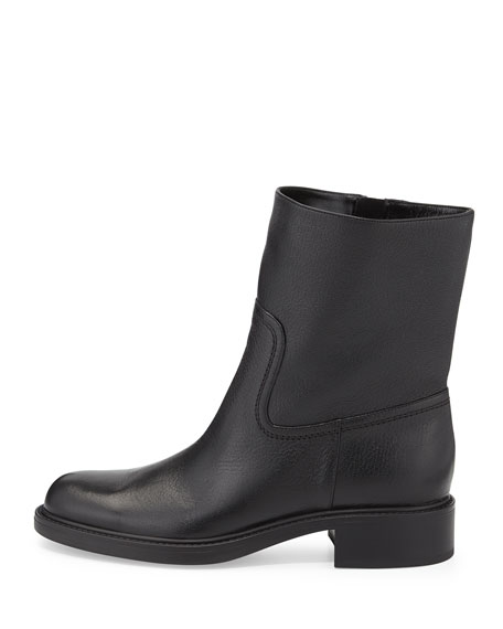Maud Leather Ankle Boot, Black