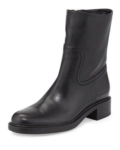 Gucci Maud Leather Ankle Boot, Black
