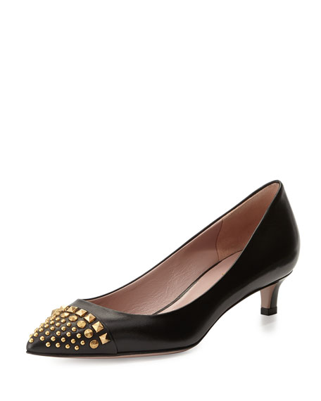 Gucci Coline Stud Pump, Black