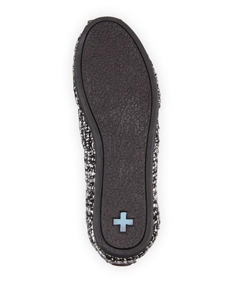 Boucle Woven Slip-On, Black/White