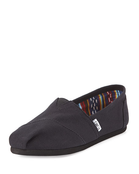 TOMS Canvas Classic Slip-On, Black