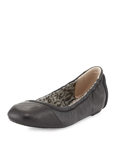 Camila Leather Ballerina Flat