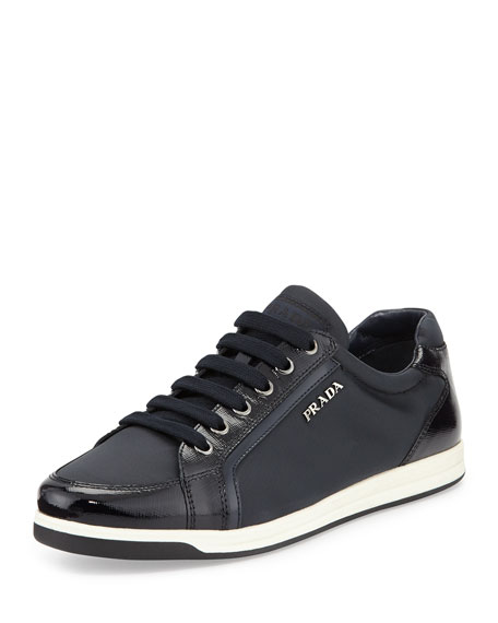 Prada Linea Rossa Low-Top Nylon Sneaker, Blue