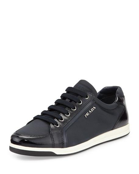 Prada Linea Rossa Low-Top Nylon Sneaker, Blue