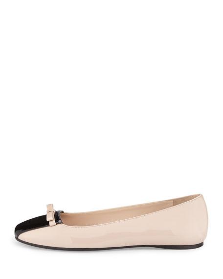 Square-Toe Ballerina Flat, Cipria