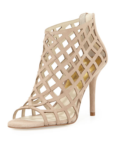 MICHAEL Michael Kors  Yvonne Suede Cage Bootie