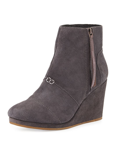 High-Wedge Desert Boot, Gray