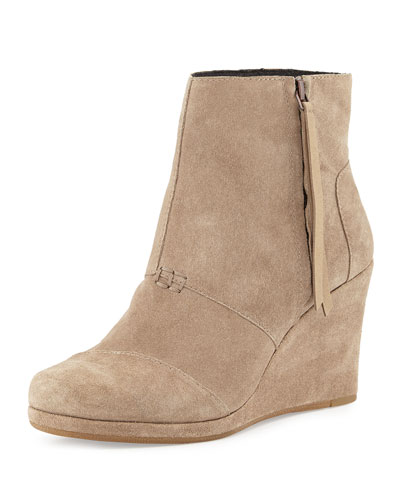 TOMS High-Wedge Desert Boot, Taupe
