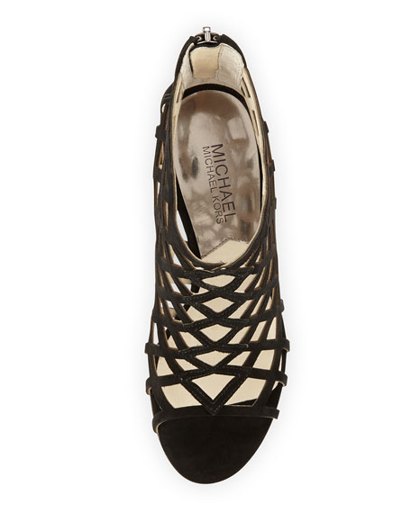 <MKFMGLOBALCOPY-mmk> Yvonne Suede Cage Bootie
