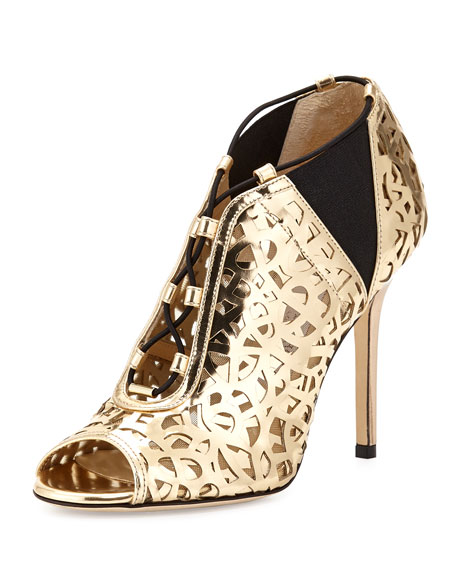 Jimmy Choo Tactic Lace-Up Cutout Bootie