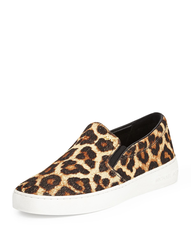 51abd4a39cf4 MICHAEL Michael Kors Keaton Cheetah-Print Calf Hair Slip-On Sneaker ...