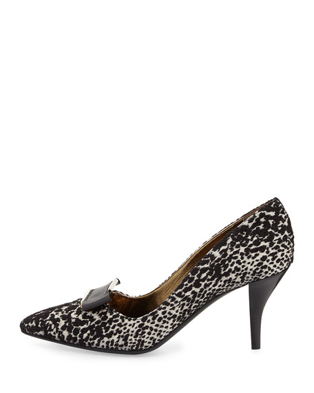 Jacquard Buckle Pump