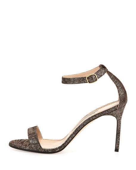 Chaos Metallic Suede Sandal, Brown