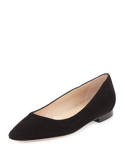 BB Suede Ballerina Flat, Black