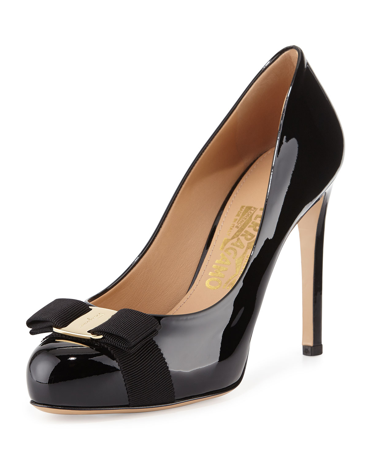 Salvatore Ferragamo Square-Toe Bow Pumps discount best place cheap footlocker pictures free shipping pay with visa VuV4cHPg