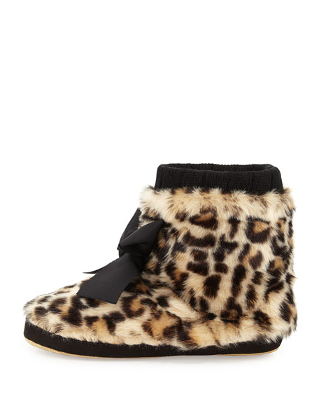 5fe4de217daa kate spade new york Fabian Faux-Fur Bootie Slipper, Leopard