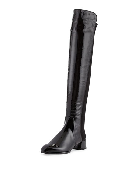 Stuart Weitzman Fifo Patent Stretch Over-the-Knee Boot