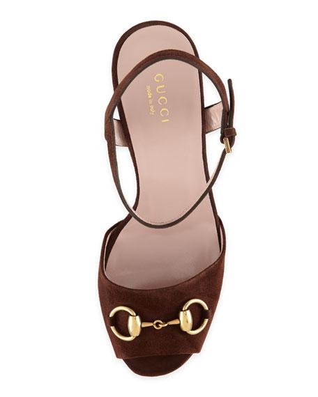 36e569f8887e Gucci Suede Horsebit Platform Sandal