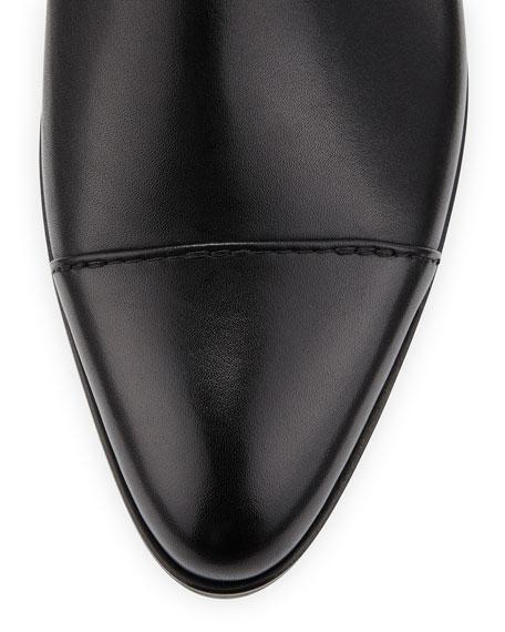 Lanvin Chelsea Leather Bootie, Black