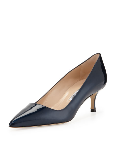 Manolo Blahnik BB Patent 50mm Pump, Navy