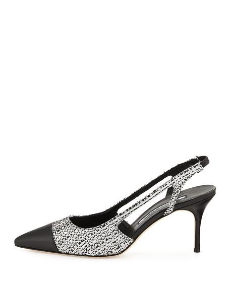manolo blahnik black and white shoes
