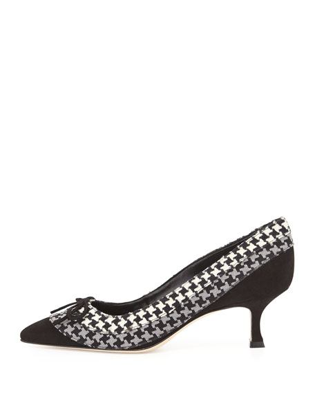 Sfida Houndstooth Pump, Black/Gray