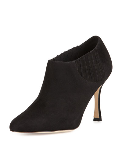 Livrea Suede Stretch Bootie, Black