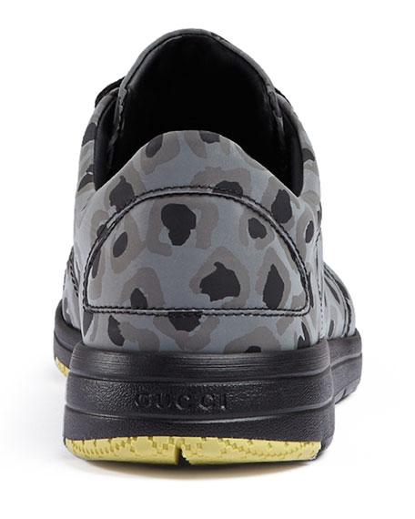 8f6f3c696fd Gucci Brava Reflective Leopard-Print Trainer