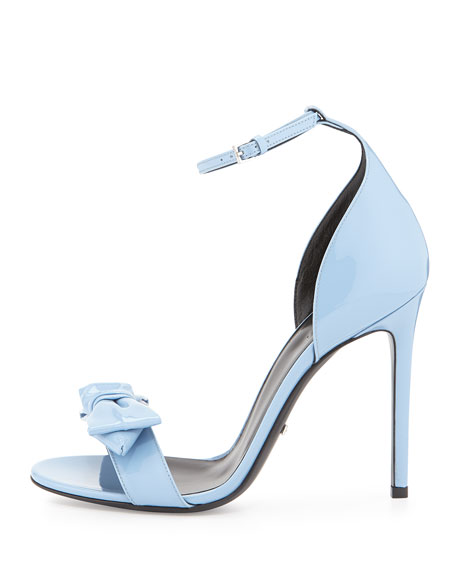 Mineral Clodine Leather Patent Sandal Blue bv7gYf6y