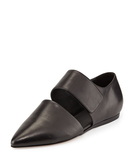Niven Pointed d'Orsay Flat, Black
