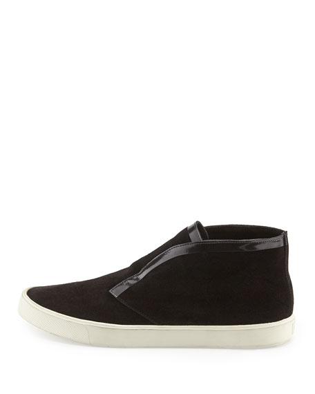 Patton Suede Slip-On Sneaker, Black