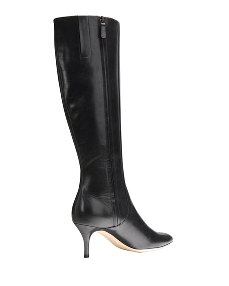 Carlyle Point-Toe Dress Boot, Black