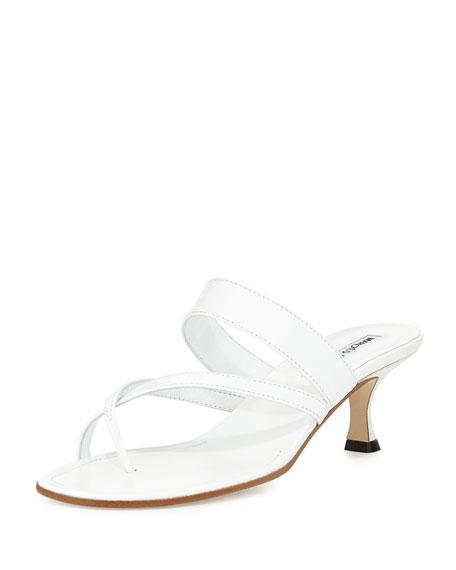 Manolo Blahnik Susa Low-Heel Thong