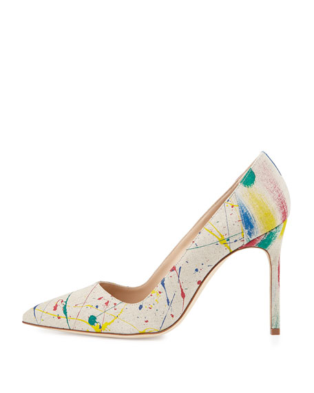 Manolo Blahnik Printed Canvas Pumps official sale online yRpIkSEx