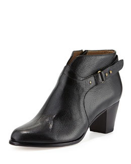 Anyi Lu Cynthia Leather Ankle Boot, Black