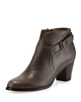 Anyi Lu Cynthia Leather Ankle Boot, Graphite