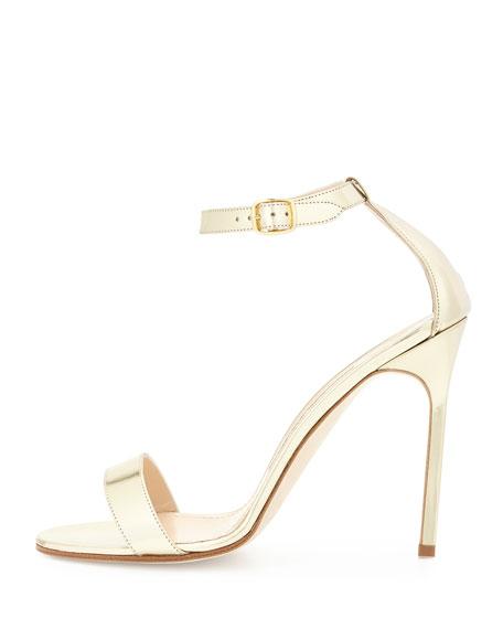 Chaos Metallic Stiletto Sandal, Gold