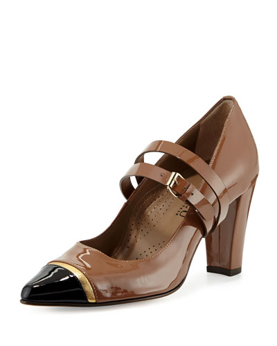 Stefania Cap-Toe Mary Jane Pump