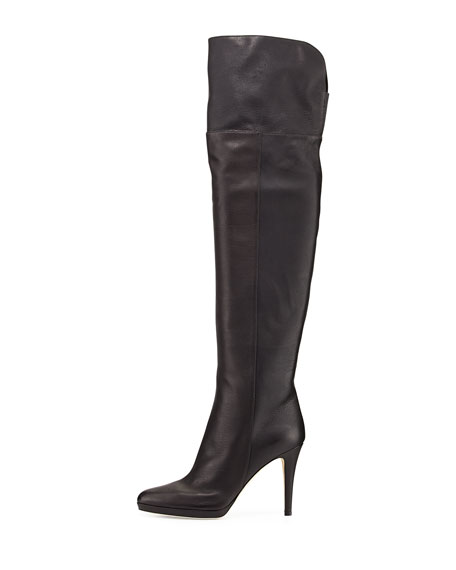 Jimmy ChooGypsy Fitted Over-The-Knee Boot, Black