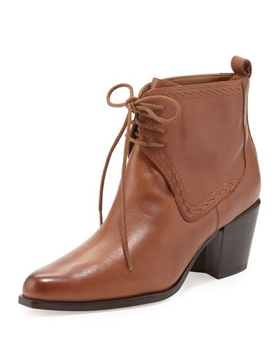 Bettye Muller Frontier Lace-Up Ankle Bootie, Brown