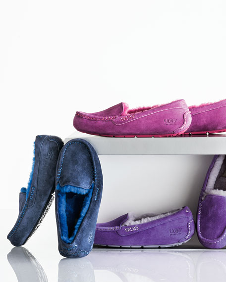 Ansley Moccasin Slipper, Royal Grape/Lilac