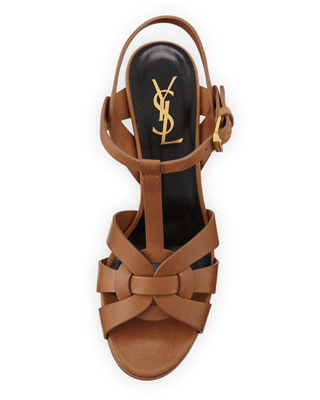 Tribute Leather 75mm Sandal, Bronze