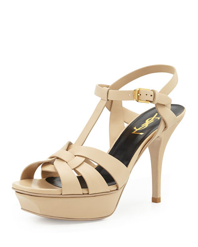 Tribute Leather Mid-Heel Sandal